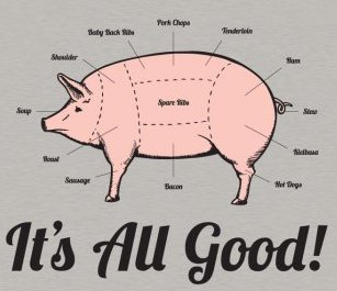 parts of a pig that are tasty